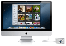 Connect camera to Mac computer